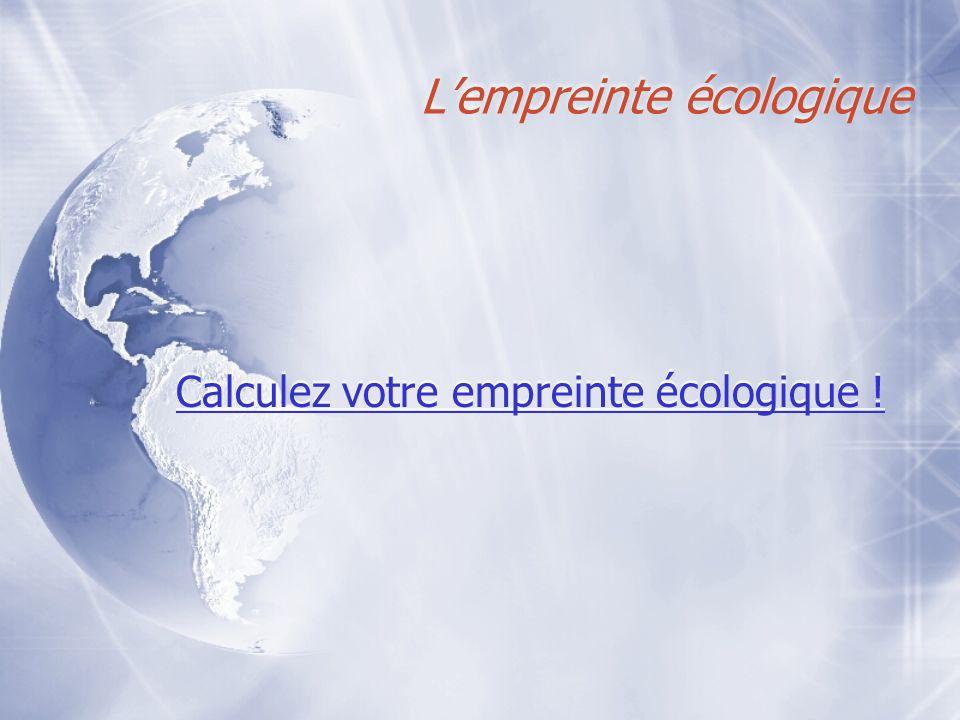 L'empreinte écologique