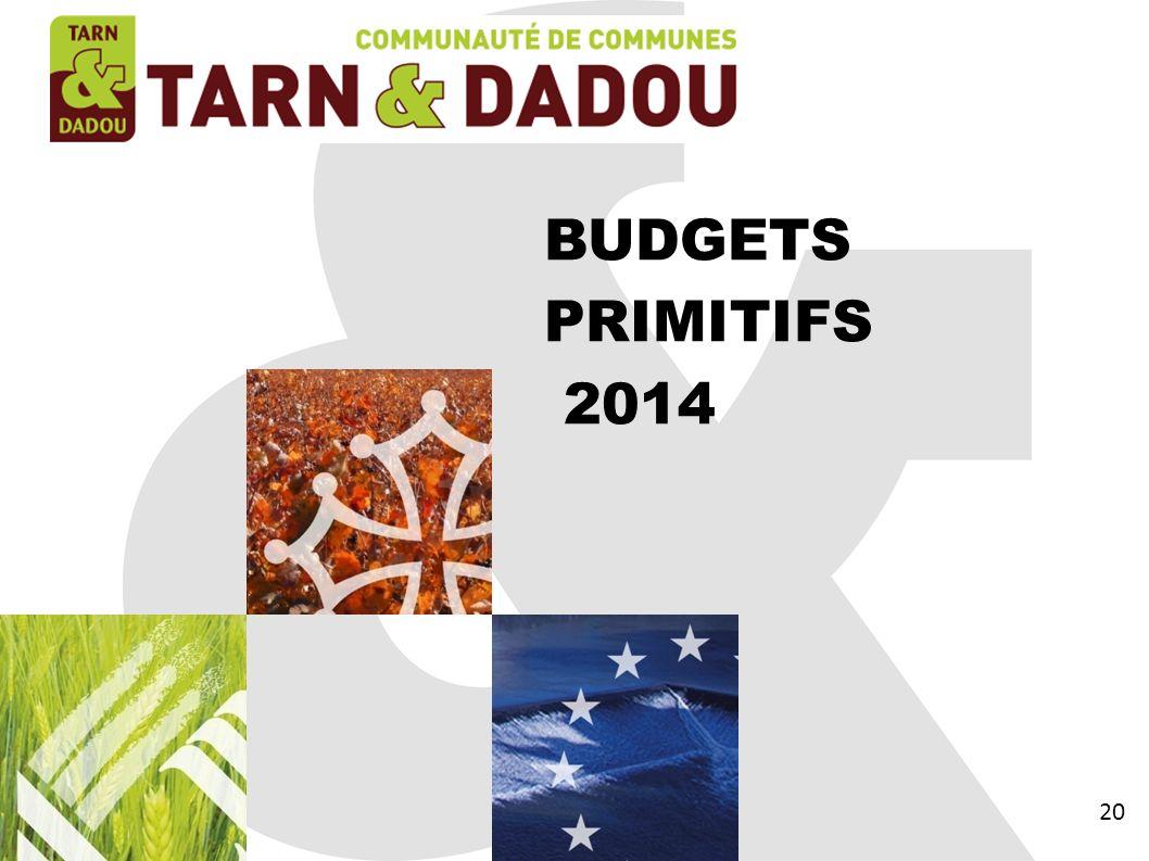 BUDGETS PRIMITIFS 2014 20 20 20 20