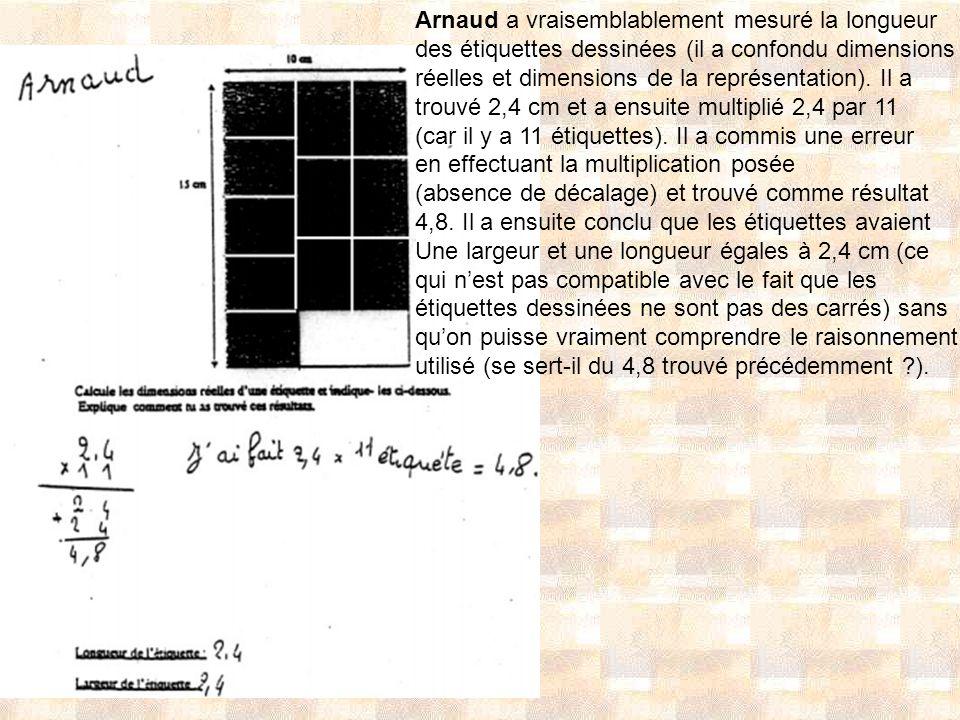 Arnaud a vraisemblablement mesuré la longueur