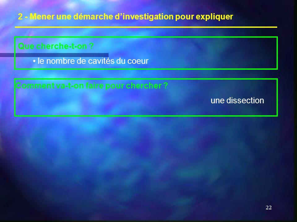 2 - Mener une démarche d'investigation pour expliquer