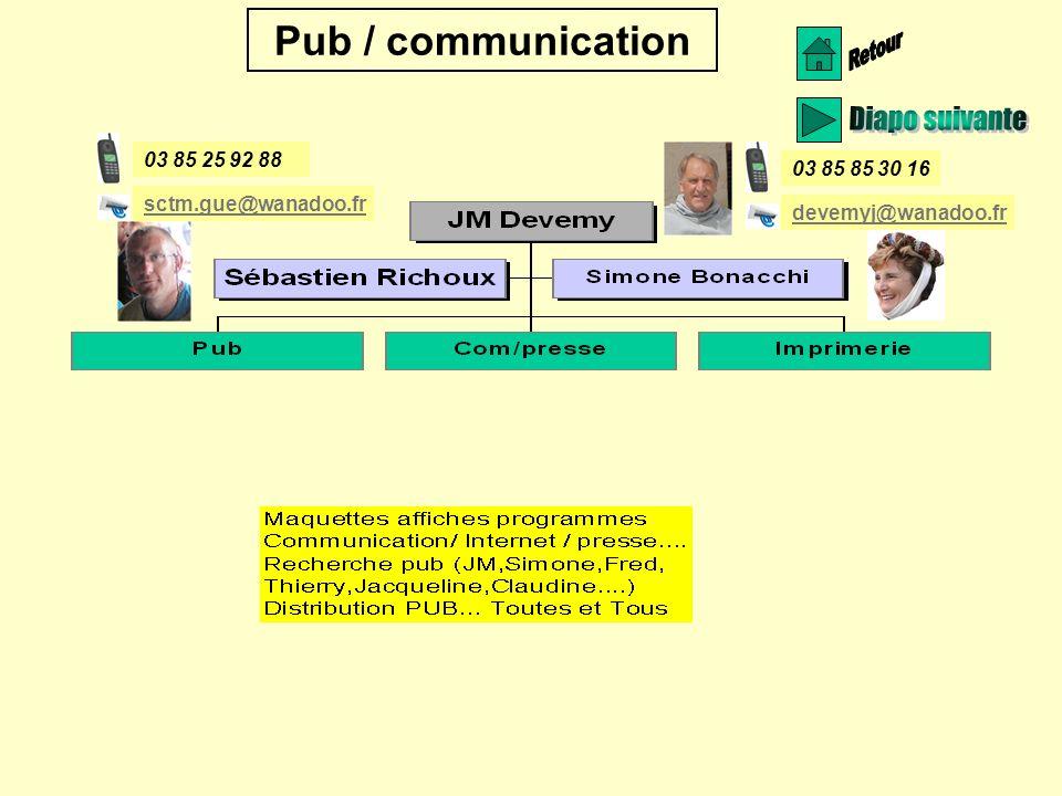 Retour Diapo suivante Pub / communication 03 85 25 92 88