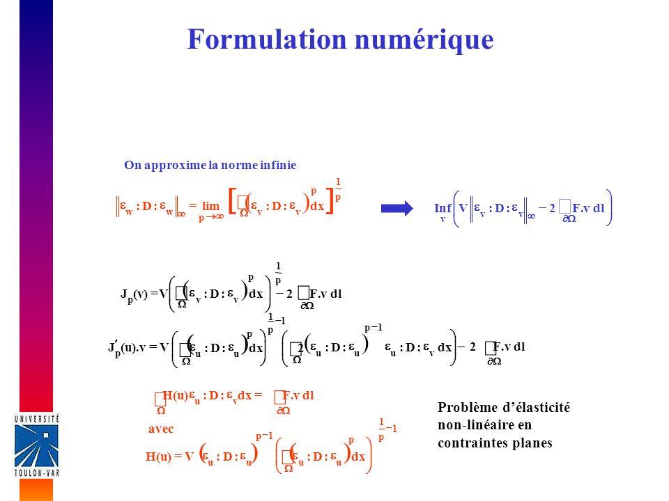Formulation numérique