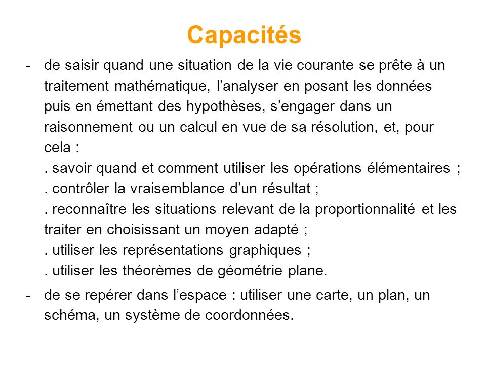 Capacités