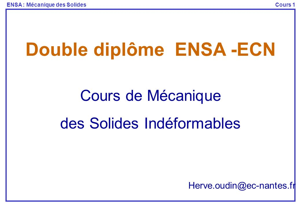 Double diplôme ENSA -ECN