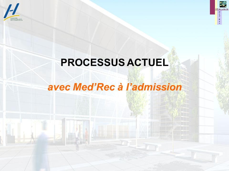 avec Med'Rec à l'admission