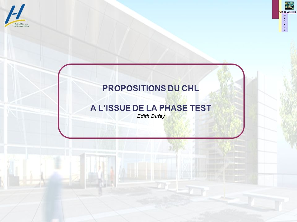 A L'ISSUE DE LA PHASE TEST