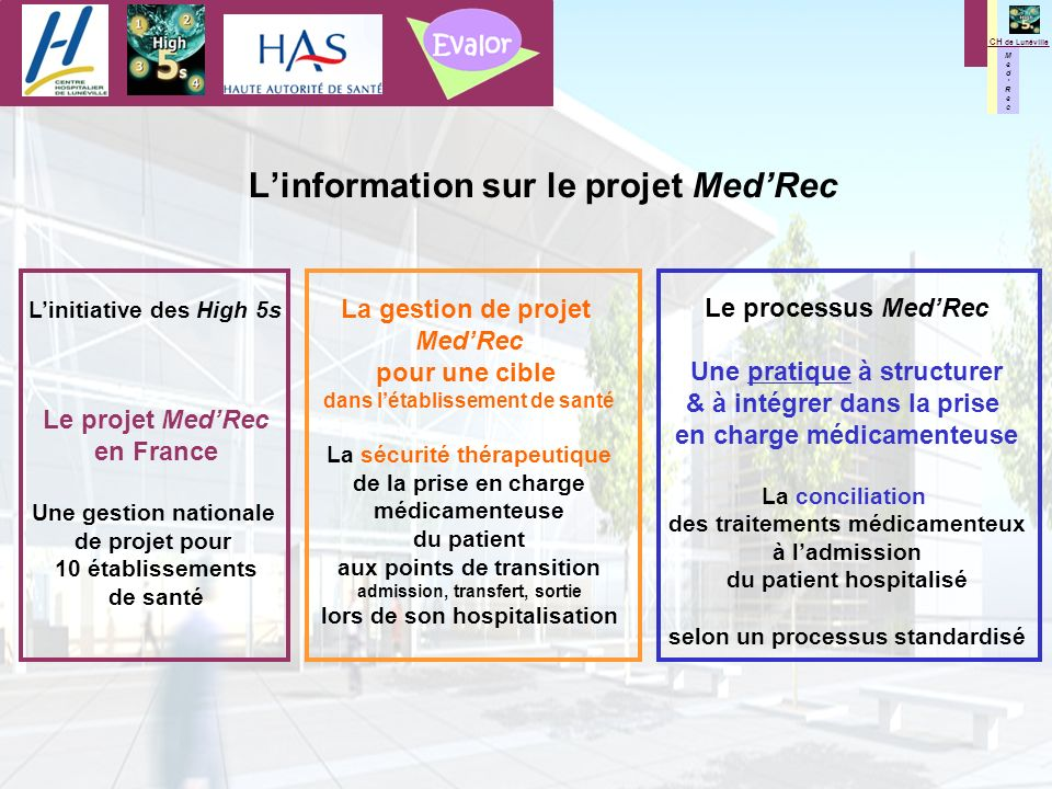 L'information sur le projet Med'Rec