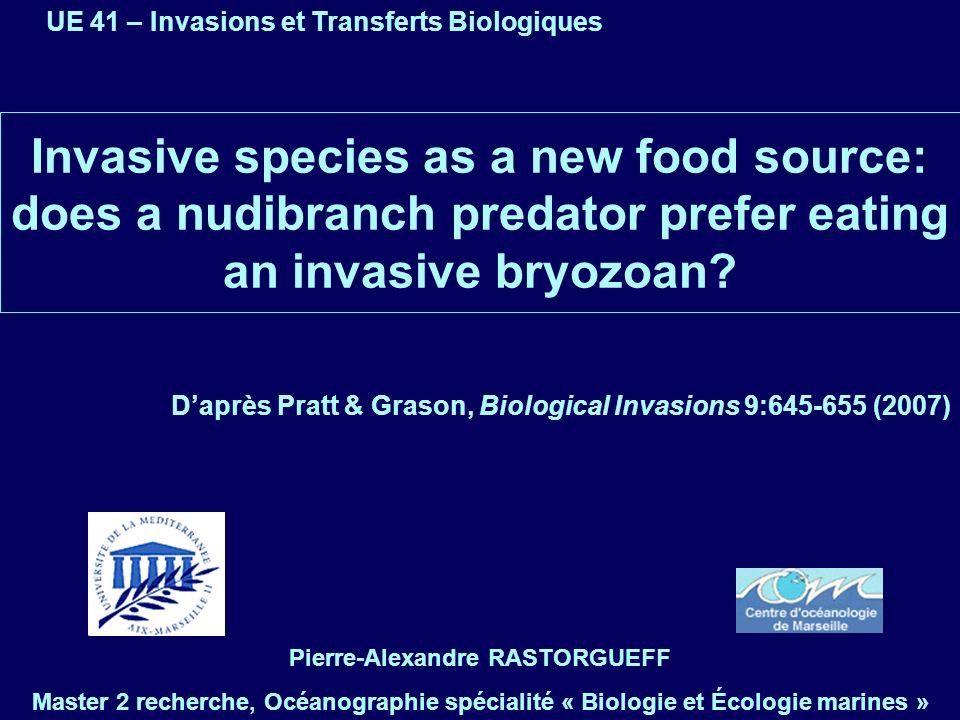 UE 41 – Invasions et Transferts Biologiques