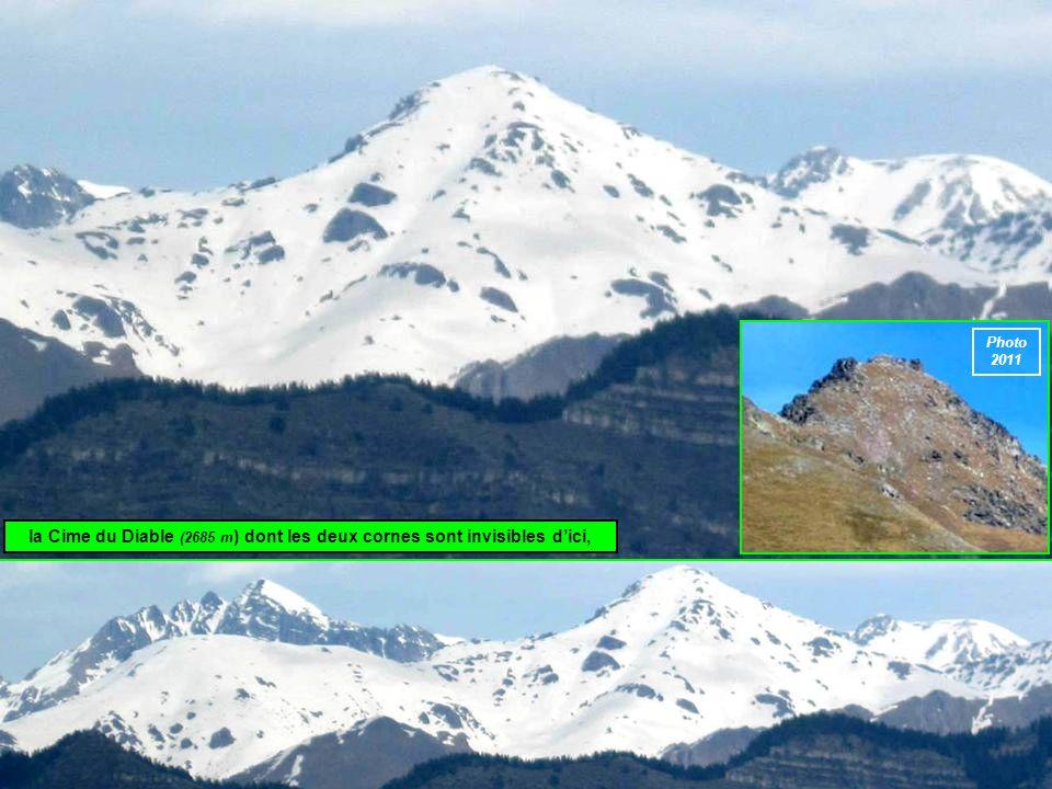 la Cime du Diable (2685 m) dont les deux cornes sont invisibles d'ici,