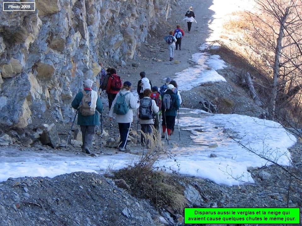 Photo 2009 Disparus aussi le verglas et la neige qui avaient causé quelques chutes le même jour.