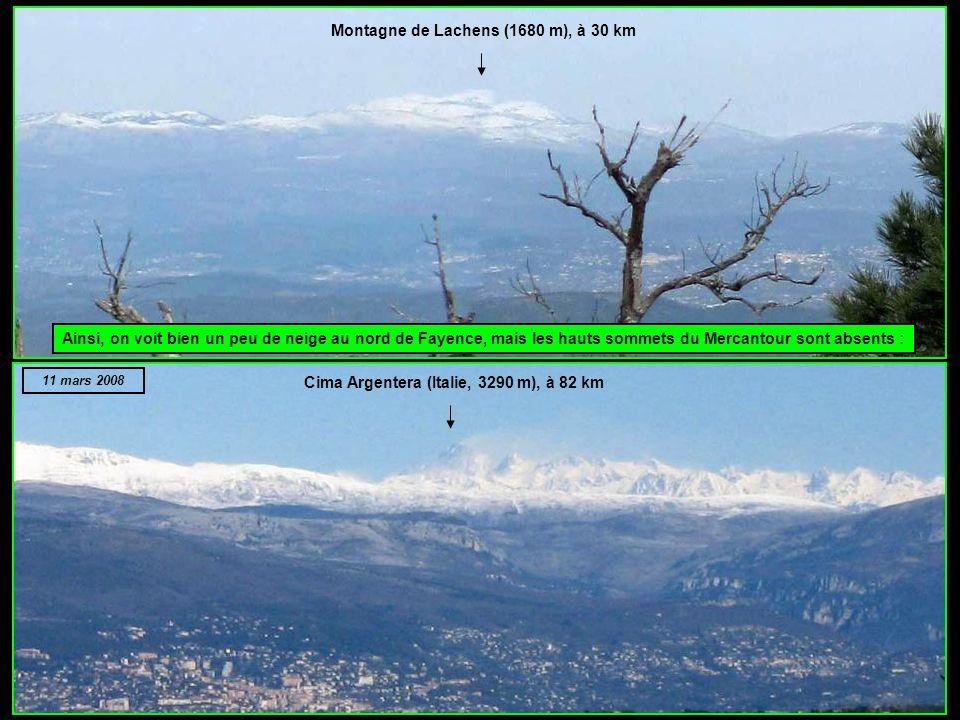 Montagne de Lachens (1680 m), à 30 km