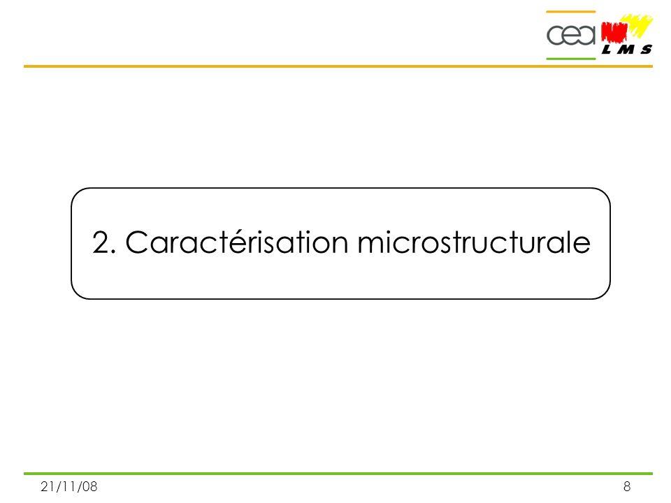 2. Caractérisation microstructurale