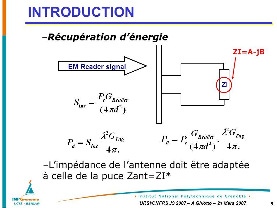 INTRODUCTION Récupération d'énergie