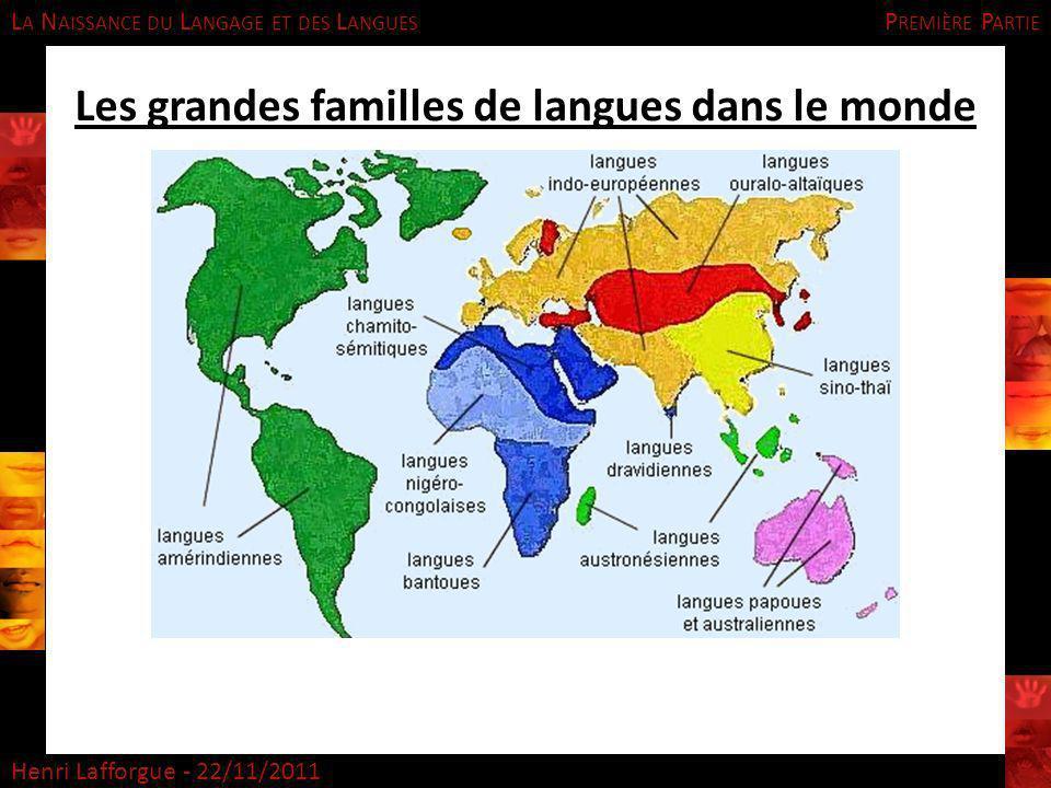 Les grandes familles de langues dans le monde