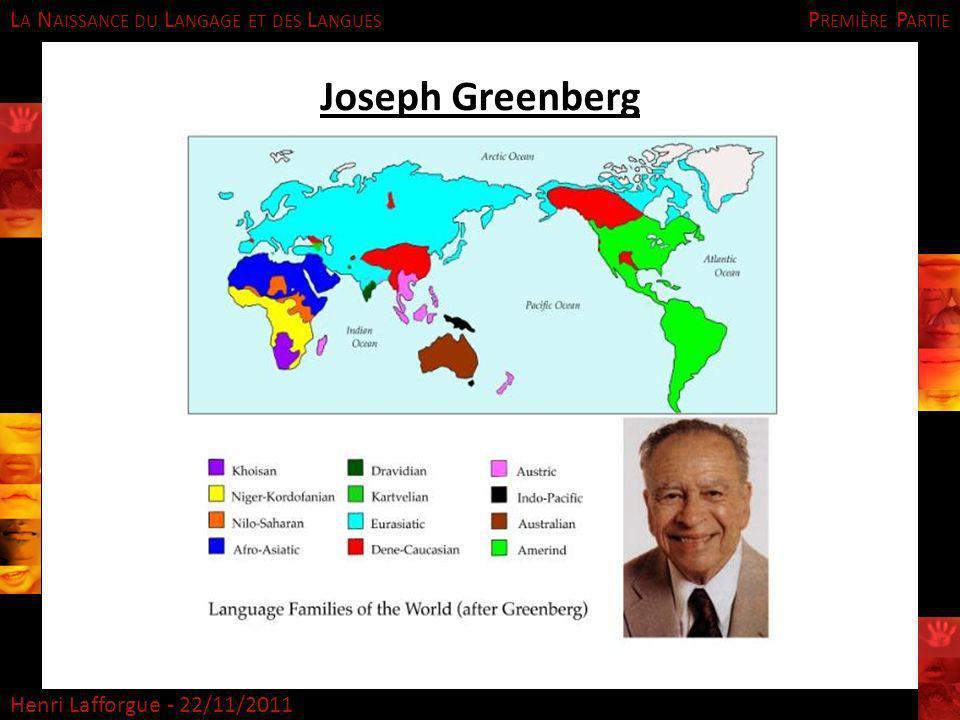 Première Partie Joseph Greenberg