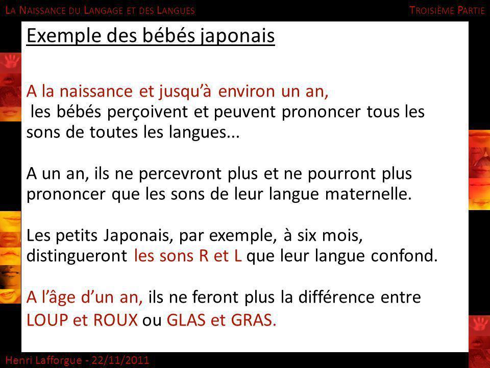 Exemple des bébés japonais