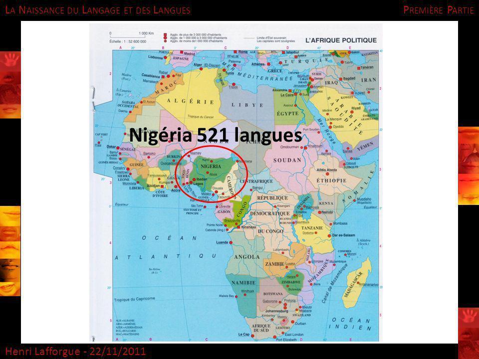 Première Partie Nigéria 521 langues