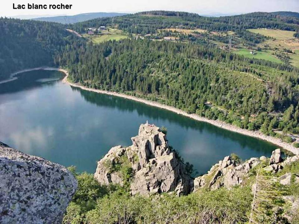Lac blanc rocher
