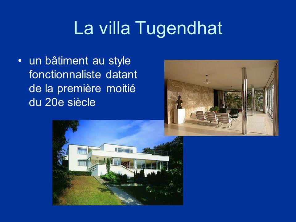 La villa Tugendhat un bâtiment au style fonctionnaliste datant de la première moitié du 20e siècle