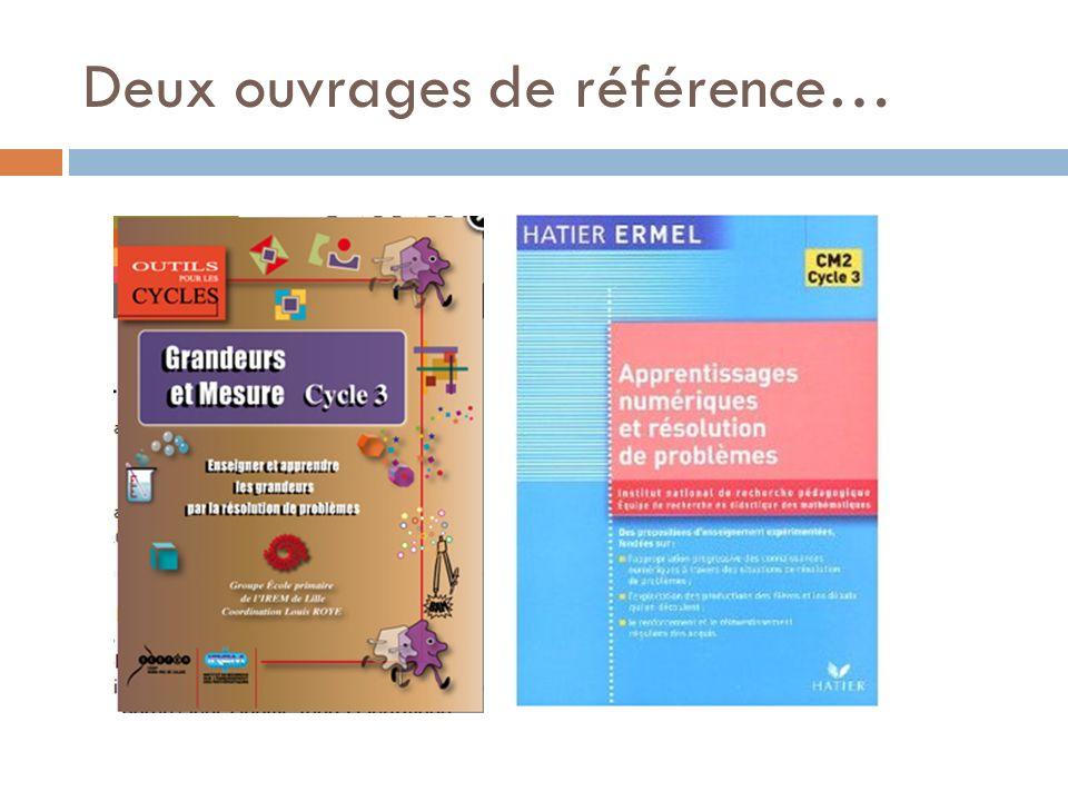 Deux ouvrages de référence…