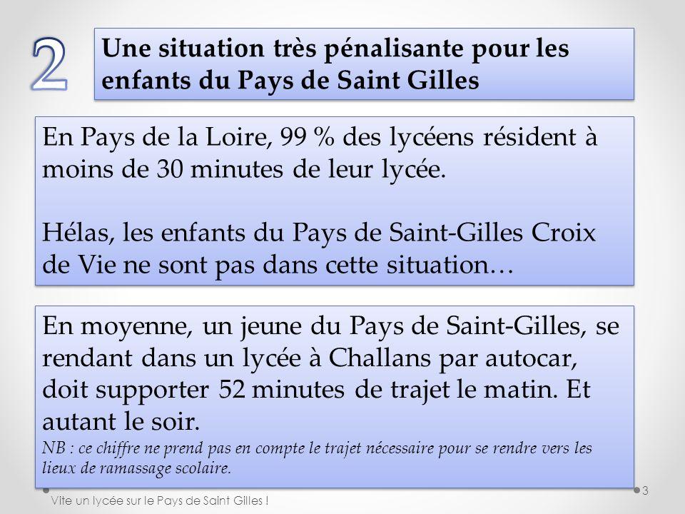 2 Une situation très pénalisante pour les enfants du Pays de Saint Gilles.