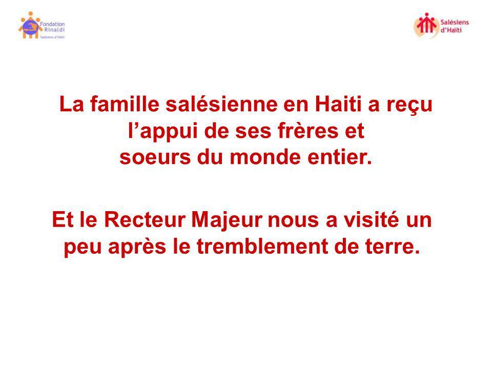 La famille salésienne en Haiti a reçu l'appui de ses frères et