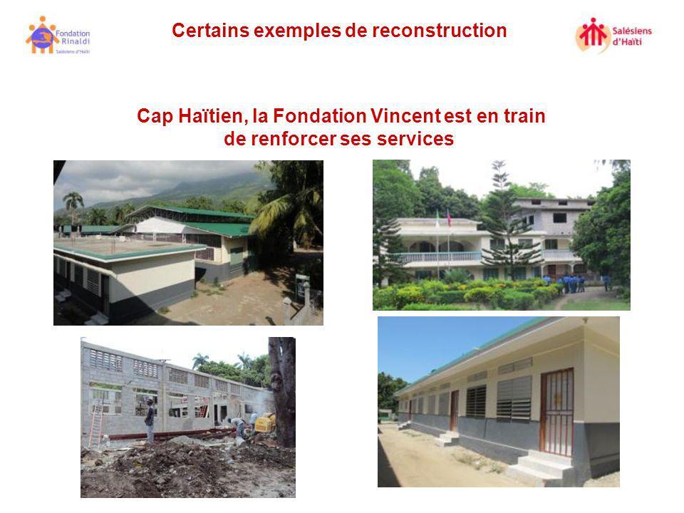 Certains exemples de reconstruction