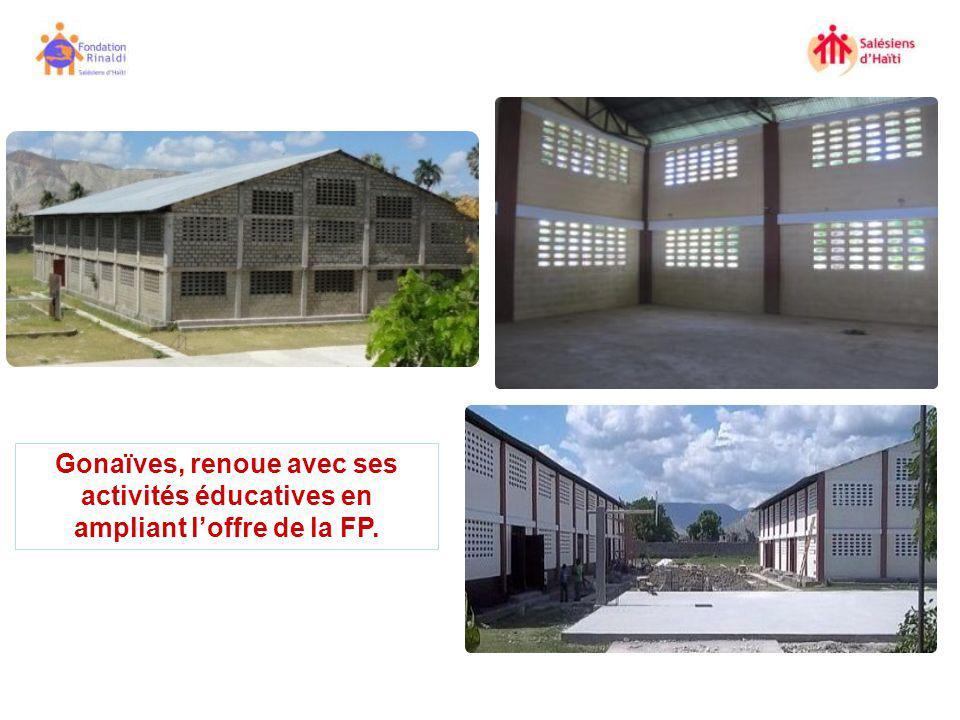 Gonaïves, renoue avec ses activités éducatives en ampliant l'offre de la FP.