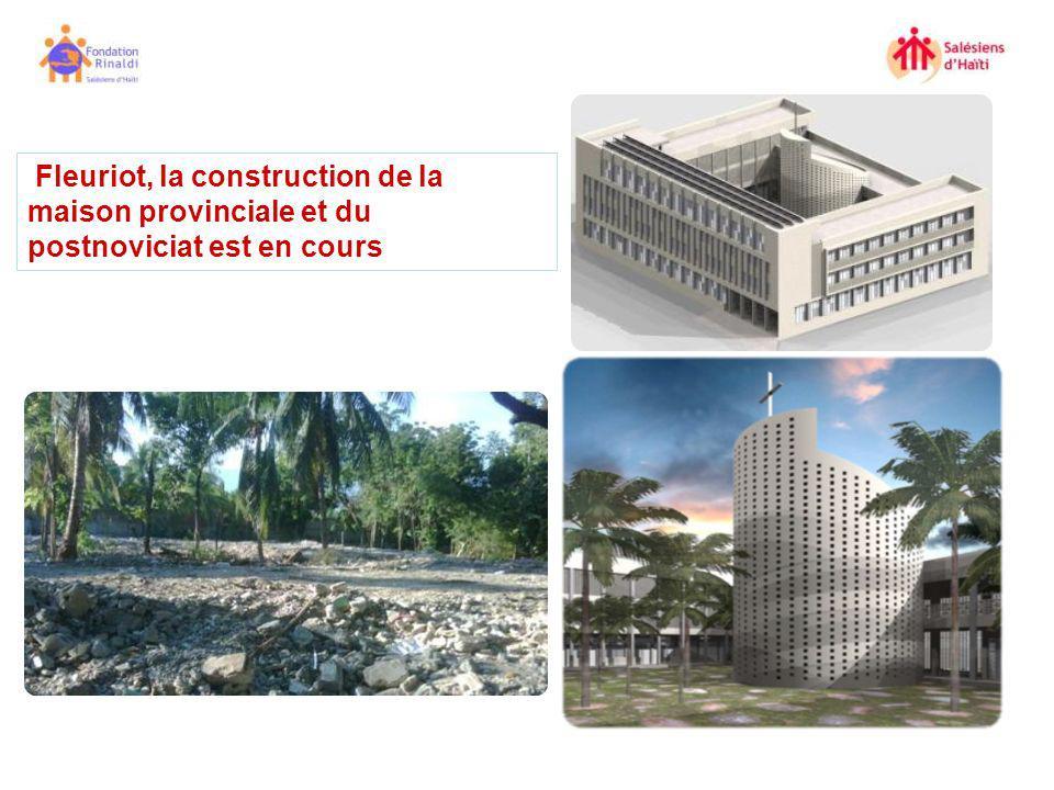 Fleuriot, la construction de la maison provinciale et du postnoviciat est en cours