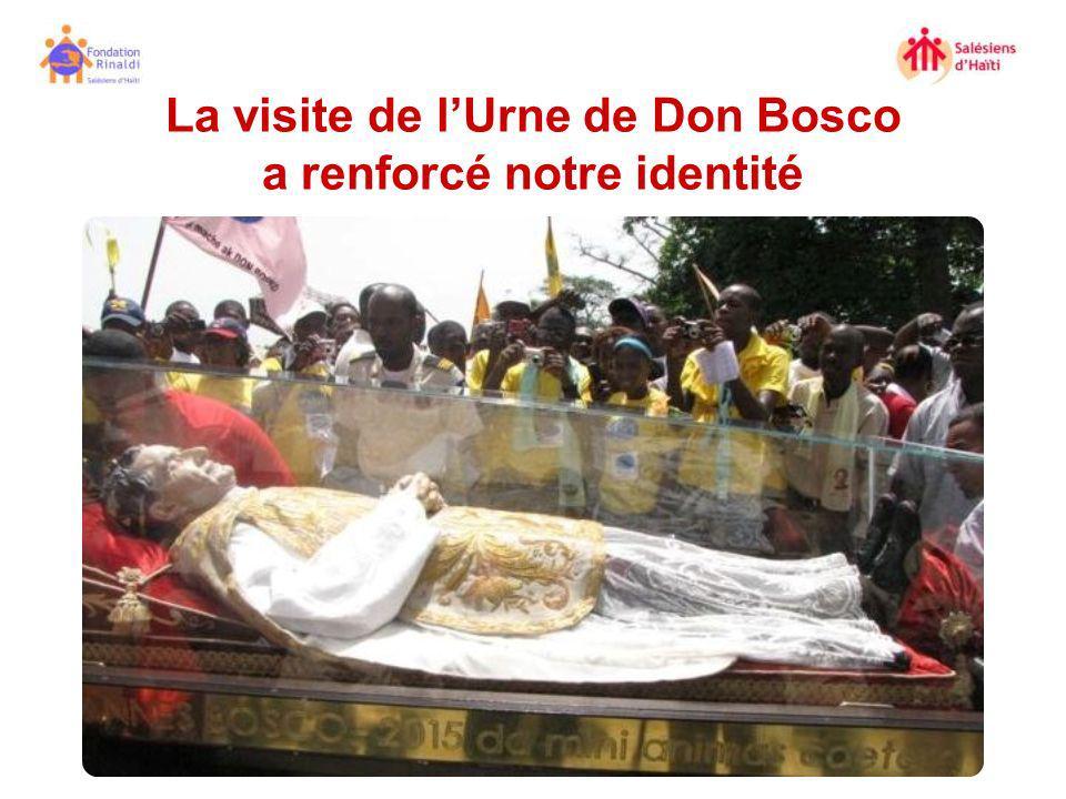 La visite de l'Urne de Don Bosco a renforcé notre identité