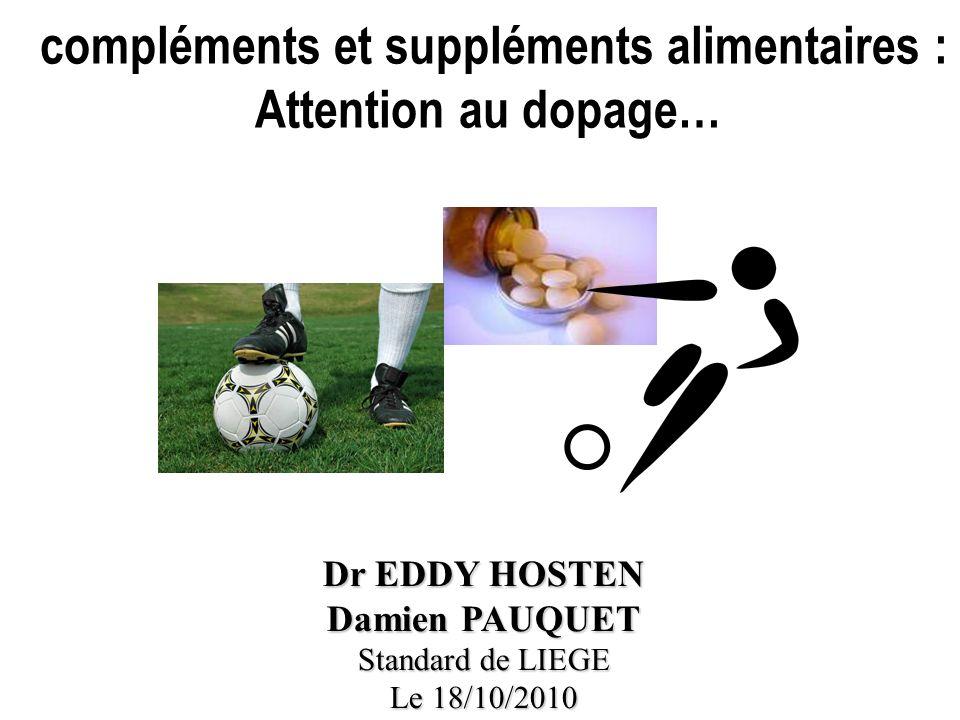 compléments et suppléments alimentaires : Attention au dopage…