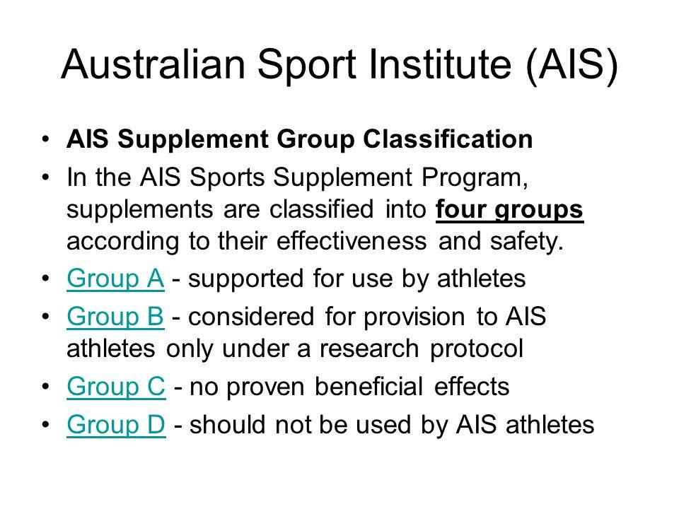 Australian Sport Institute (AIS)