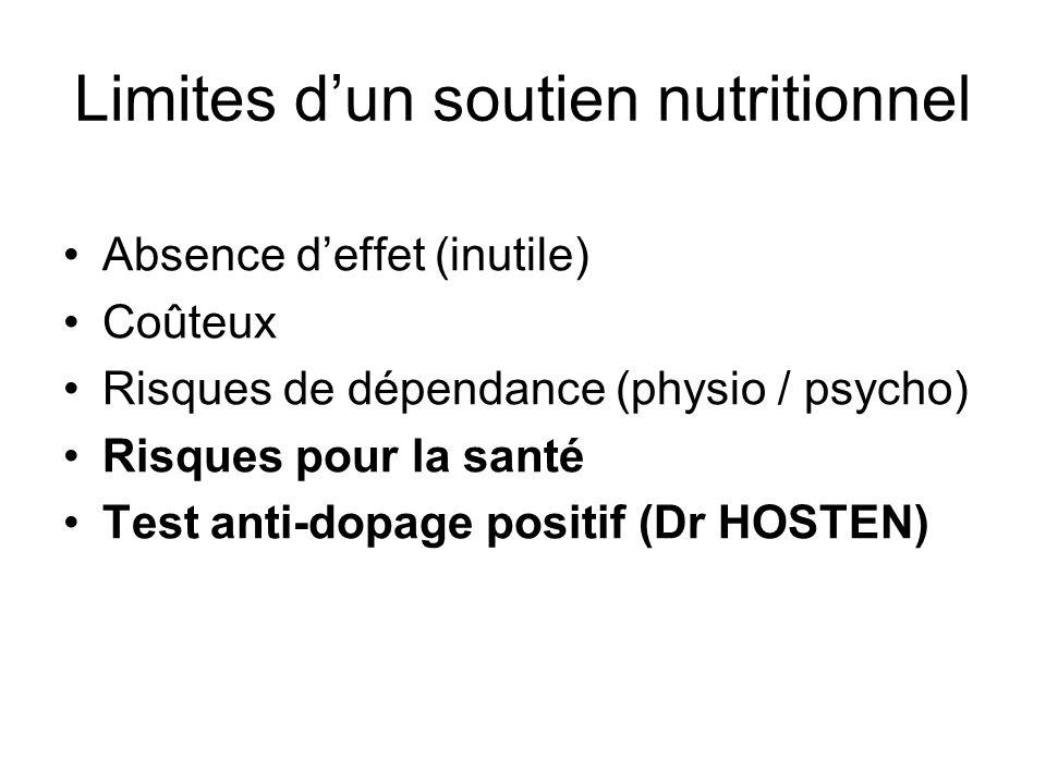 Limites d'un soutien nutritionnel