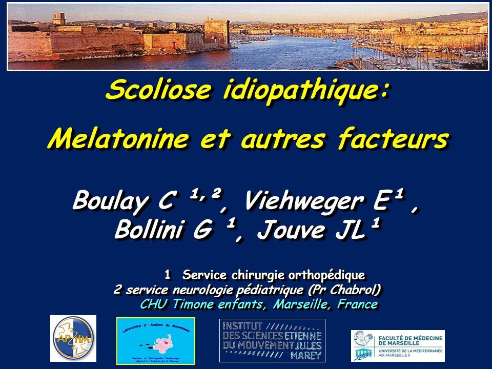 Scoliose idiopathique: Melatonine et autres facteurs