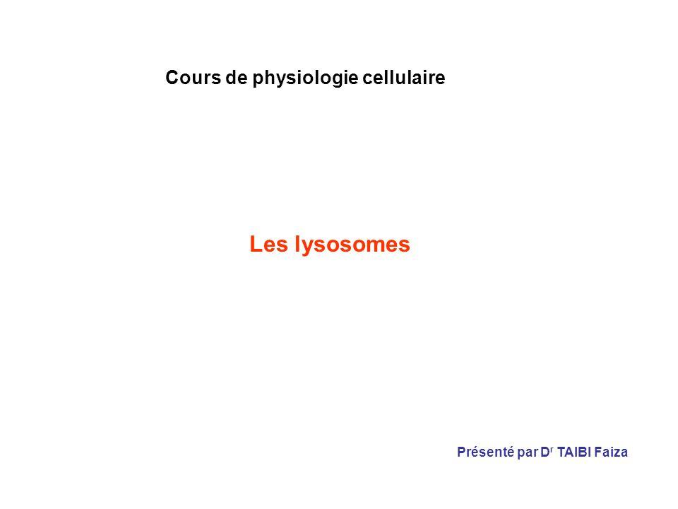 Cours de physiologie cellulaire