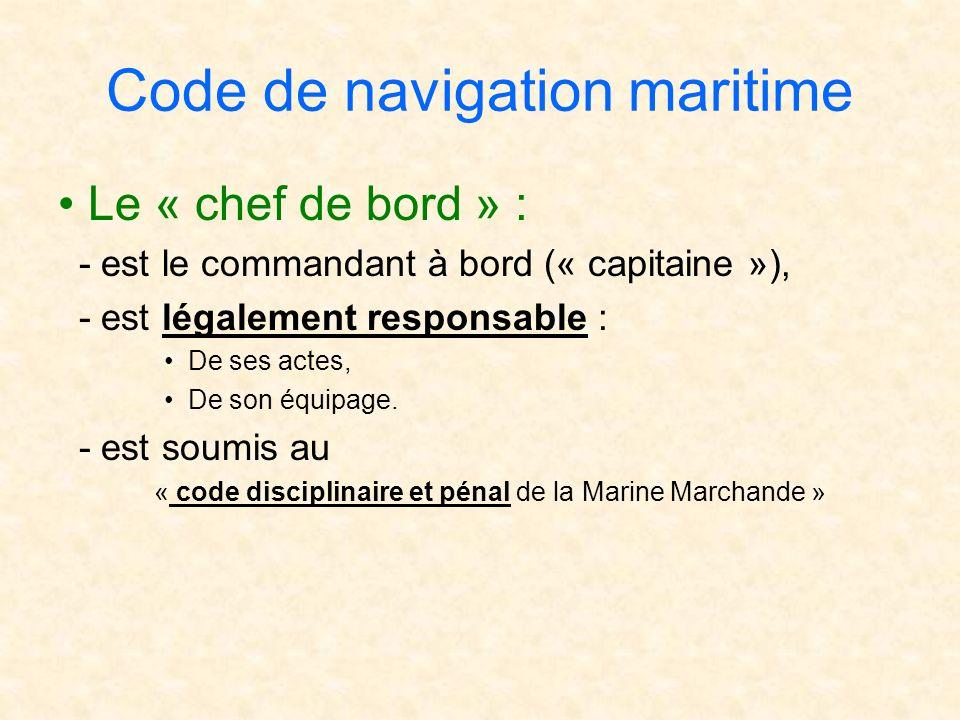 Code de navigation maritime