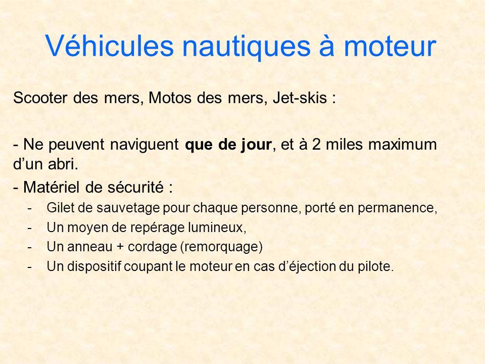 Véhicules nautiques à moteur
