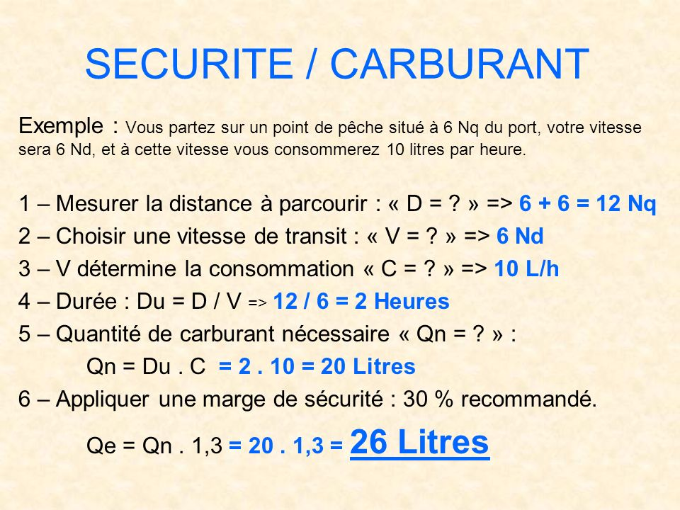 SECURITE / CARBURANT