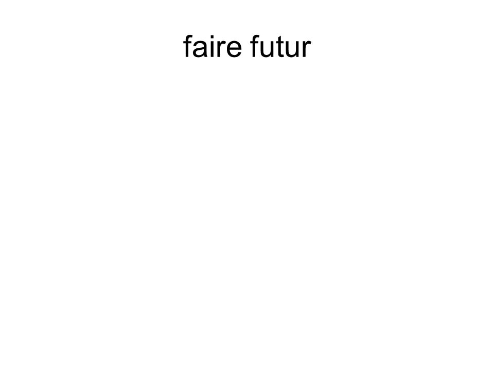 faire futur