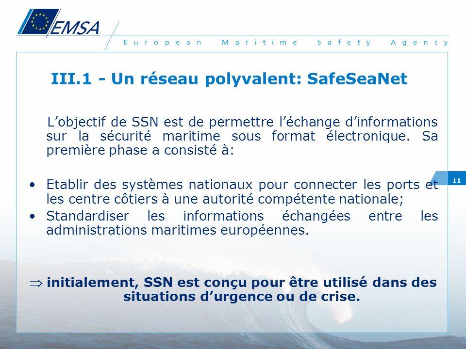 III.1 - Un réseau polyvalent: SafeSeaNet