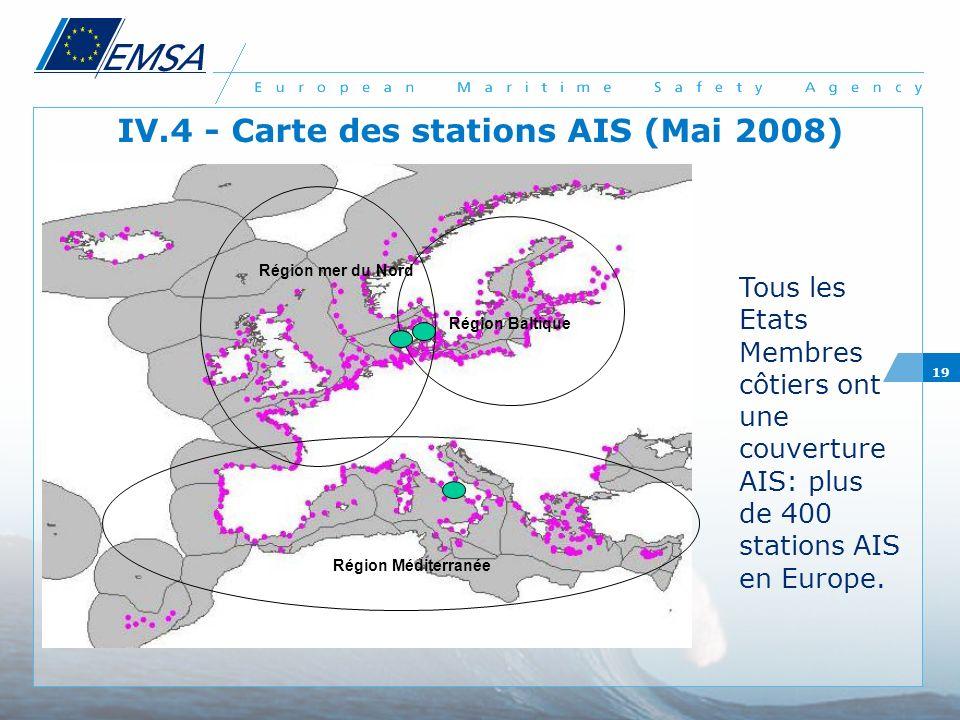 IV.4 - Carte des stations AIS (Mai 2008)