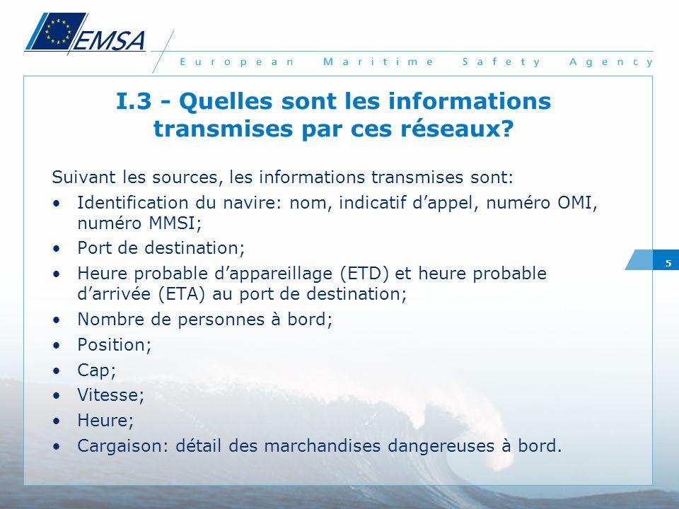 I.3 - Quelles sont les informations transmises par ces réseaux