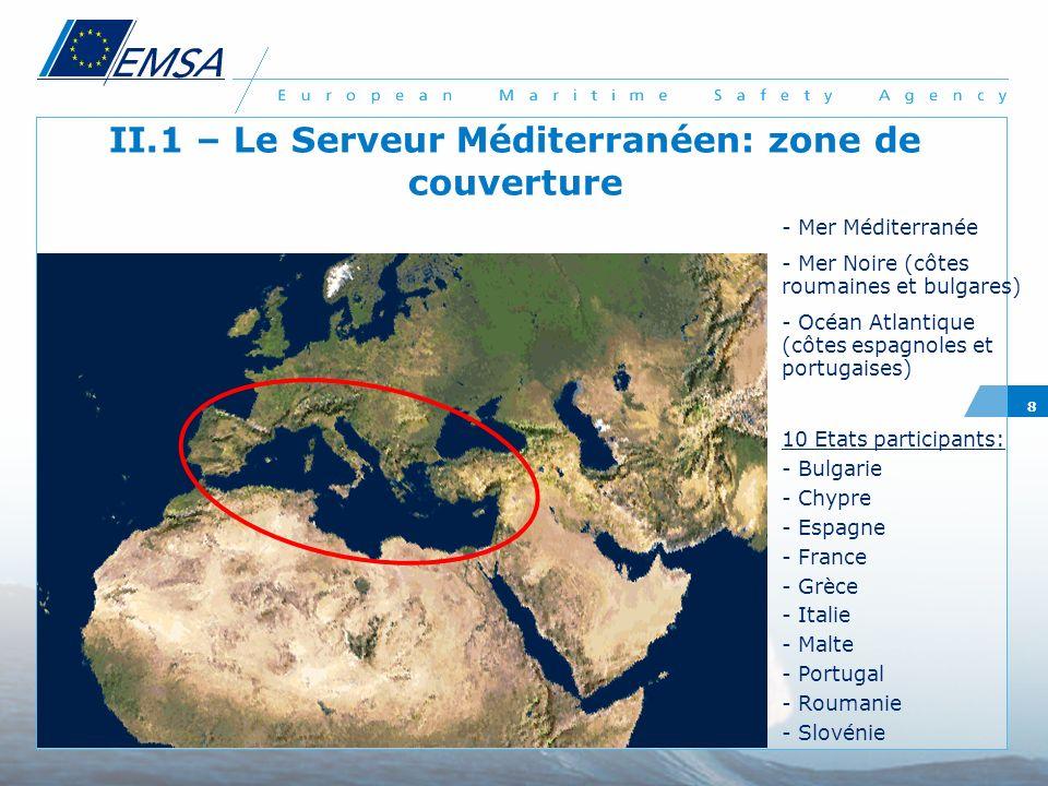 II.1 – Le Serveur Méditerranéen: zone de couverture