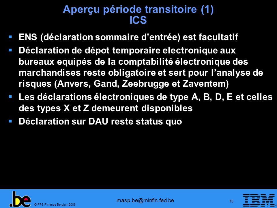 Aperçu période transitoire (1) ICS