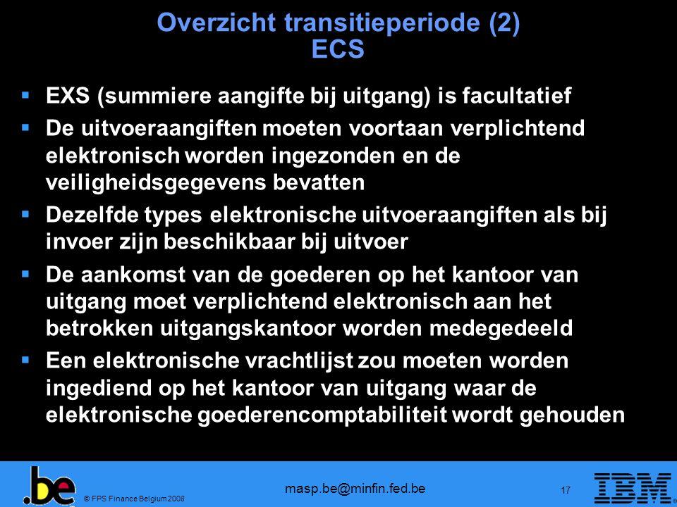 Overzicht transitieperiode (2) ECS