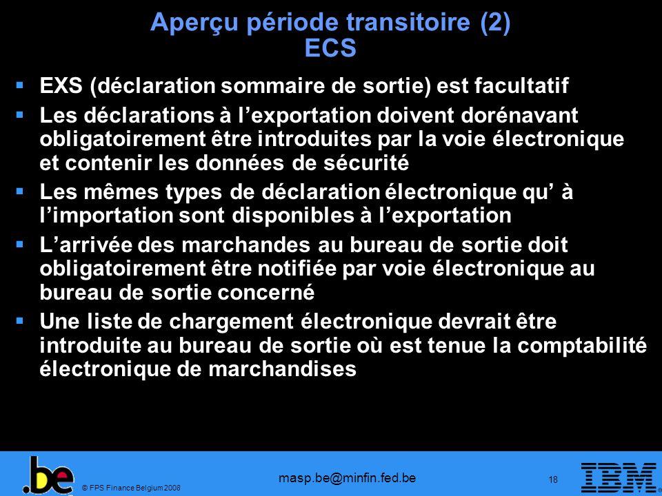 Aperçu période transitoire (2) ECS