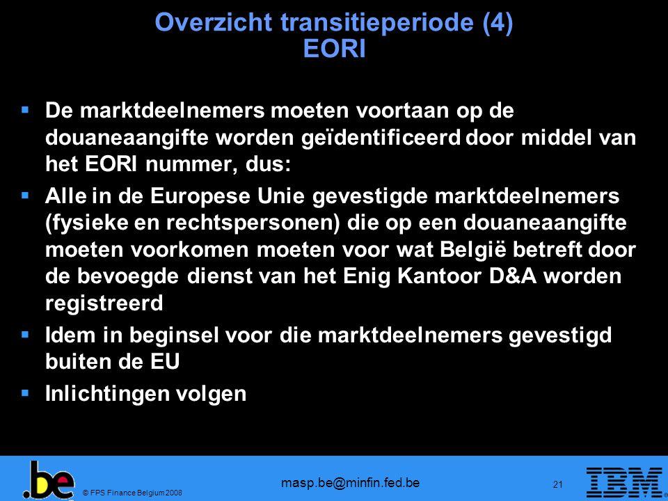 Overzicht transitieperiode (4) EORI