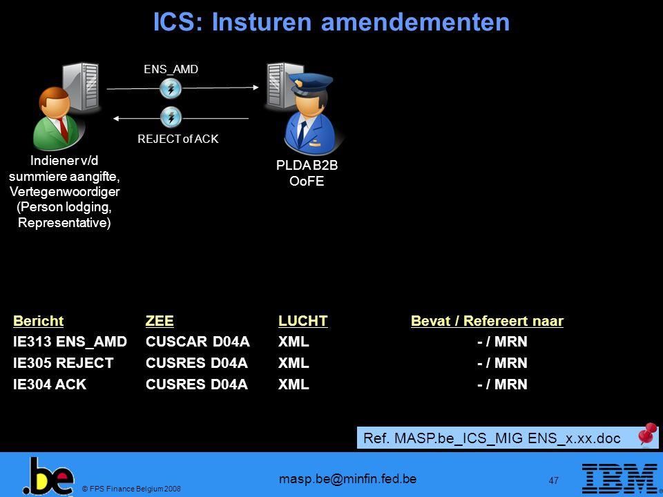 ICS: Insturen amendementen