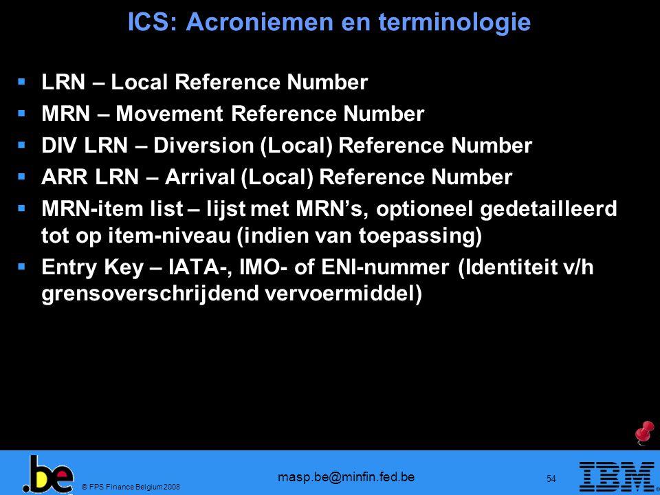 ICS: Acroniemen en terminologie
