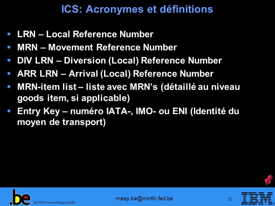 ICS: Acronymes et définitions